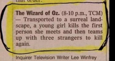 'Wizard of Oz' Fake Logline